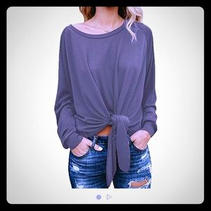 Tops - NWT cute oversized top with front knot